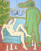 Julian Semiao, Abandon, 150X120cm, acrylique sur toile, figuration libre. Vernissage le 08 juillet Galerie Gabel, Biot