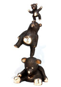 Philippe Berry-3 oursons en bronze. H:165cm- Galerie d'art sud de la France-village de Biot
