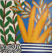 Gordon Hopkins 100X100cm, huile sur toile  - Galerie Gabel Biot - Côte d'Azur