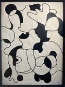 Bernadette de Samois, plâtre et peinture sur panneau de bois, Galerie Gabel, Biot.