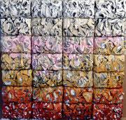 "Joseph (Thierry Michelet)  32X31""-paper bricks, French Riviera Art Gallery"