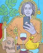 Julian Semiao, L'exil, 190X90cm, acrylique sur toile, figuration libre. Vernissage le 08 juillet Galerie Gabel, Biot, ART UP 2021