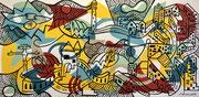 Nils Inne 195X97cm acrylique sur toile-Urban art-Galerie Gabel Biot