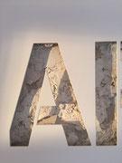 Joseph (Thierry Michelet) finition du métal en thermo-laqué blanc, sublime de pureté. Galerie d'art contemporain, Côte d'Azur, josephartwork