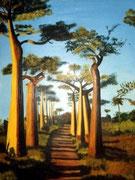 Baobabs - acrylique - 47 X 63