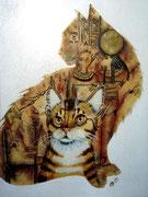 Copie d'après tableau de Bernard Vercruyce - acrylique -