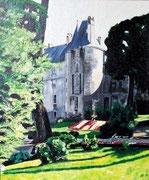 Château - acrylique - 46 X 55
