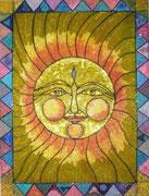 Soleil : chaque milimètre est investi par une perle de lumière   46 X 60