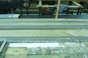 Les quais en cartons sont conservés. Ils verront dans l'année l'implantation des supports de caténaire Région 4.