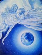 Marie, Mère de la Lumière. Toile vendue à Catherine Manent Breuili