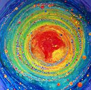Galaxie d' Arc-en-ciel  80x80cm  Vendu à M-P et J-L Berrenguer