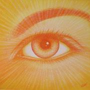 Le seul-Oeil, le soleil  60x60cm  Toile vendue à Christine Laure Renault. Bretagne