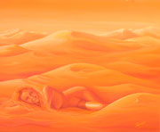 Dune Femme à l'autre  61x50cm Vendue à Laurence Dagnélie ESPAGNE