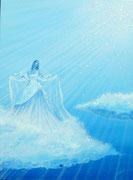 Bleu nuage d'aimer 60x80cm 1450€