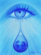 L' Ame et larme de Gabriel 46x31cm Toile  1200€