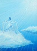 Bleu nuage d' Aimer 60x80cm Toile 1450€
