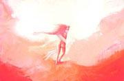 Et-Vie-danse sur l'aurore  40x60cm  1100€