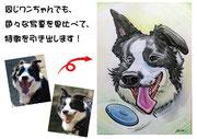 ペット似顔絵。特徴もお写真を比較して描き分けます!
