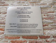 Plaque d'inauguration 2006