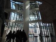 l'intérieur, atrium, façade, verrière