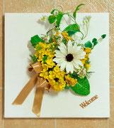 菜の花の壁掛け W32㎝×W32㎝  12,000円  品川区K様