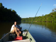 Pêche dans la Mana.