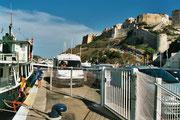 L'attente au port de Bonifacio