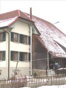 Abgasanlage von Pelletheizung an Fassade Fisa AG, Kaminbau