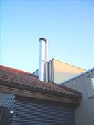 Abgasanlage von Heizung und Cheminée Fisa AG, Kaminbau