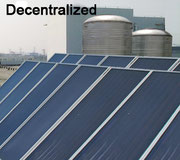 Decentralized Solar Water Heater