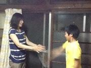子どもはどんどん割り箸の本数を増やしてチャレンジ(^o^)