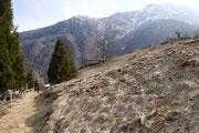 Mont di Lanès 1270 m ed il Sasso della Guardia