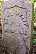 Private Daniel W. Wyatt (1847-1864) died of disease while serving in the Civil War.