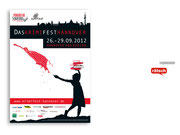 + Plakat für ein Krimifestival in Hannover, Entwurf: Antje Krüger