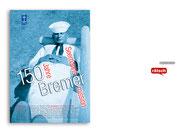"""+ Plakatentwurf """"Jubiläum"""" für die Bremer Seemannsmission, Projekt realisiert mit Printbox, Ingeborg Albers"""