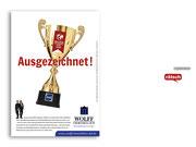 + Imagekampagne: Anzeigenmotiv »Ausgezeichnet«