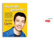 """+ Plakatserie mit Motiv """"Stellenanzeige"""" für einen Schuh- und Schlüssel-Schnelldienst"""