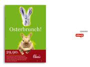 """+ Plakat """"Osterbrunch"""" für ein Restaurant"""