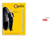 """+ Plakatserie mit Motiv """"Schuhmann"""" für einen Schuh- und Schlüssel-Schnelldienst"""