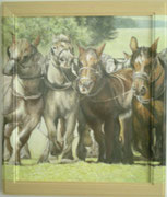 Pferdestärke 45x55 Eingerahmt /  Bild würde über Rahmen weiter gemahlt 2004 ---CHF 1'550---