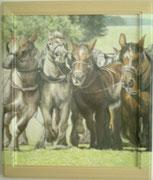 Pferdestärke 45x55 Eingerahmt /  Bild würde über Rahmen weiter gemahlt 2004 ---CHF 1'750---