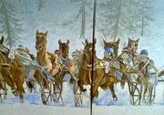 White Turf Rennen in St. Moritz 3 X 80x100  Gesamtlänge 300 / ---CHF 3'000---