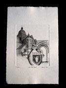 Gravure au burin impression survelin d'arche 250g