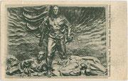 Ehrengrab der namlos Gefallenen auf dem Berg Isel in Innsbruck. Heliogravüre 9x14cm; kein Jmpressum um 1930.  Inv.-Nr. vu914hg00041