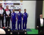 podium par équipe