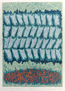 """Wiersz V"" (Gedicht-Vers-Zeile), 1995, Linolschnitt auf Bütten, 100 x 70 cm"
