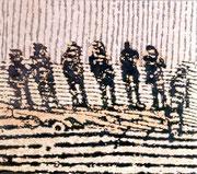 O.T. (Gruppe 7), 1997, Öl auf Leinwand, 114 x 130 cm