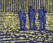 """Aus der Reihe """"Geschichten ohne Handlung"""", fortlaufende Serie, ÖL/Acryl auf Leinwand, 40 x 50 cm"""