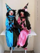 """""""CLOWNS"""",  blau und rosa, Größe: 100 cm"""