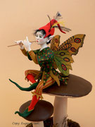 """BUTTERFLY-ELF"",  One-of-a-kind,  Size: 8,27 inch"